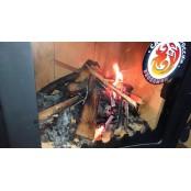 """Печь отопительно-варочная каминного типа Бавария """"Оптима"""" с плитой, мощность 6 кВт"""