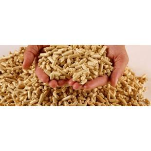 Топливные древесные прессованные гранулы - пеллета, диаметр 6 и 8 миллиметров