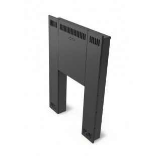 Фронтальный экран  Термофор Витра, цвет антрацит,  для прогрева смежного помещения.