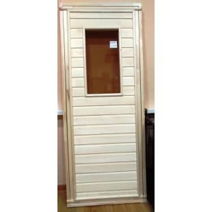 Термо устойчивая дверь для бани и сауны, наборная.