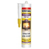 Герметик Soudal для печей, топок и дымоходов силикатный огнеупорный
