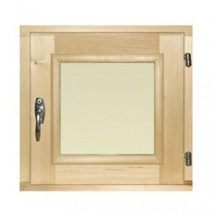 Рама для сауны, бани  DoorWood стеклопакет (липа-береза) размер 40 х 40 см.