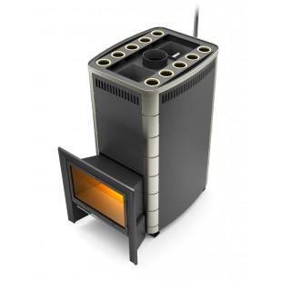Банная печь бизнес-класса Термофор Гекла Inox Иллюминатор 30-50 м.куб