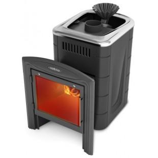 Банная печь Термофор Гейзер Мини 2016 Carbon Витра 6-12 м.куб