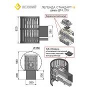 Чугунная печь Везувий ЛЕГЕНДА Стандарт 16 (ДТ-4), 8-18 куб.м.