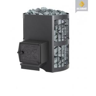 Стальная  банная печь  Везувий Оптимум  стандарт 14 на дровах и топливном брикете RUF