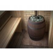 Банная печь Баррель Inox Витра палисандр 8-18 м.куб