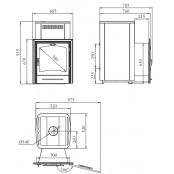 Банная печь Калина Inox (НК, ПРА, ТО), 18-30 м.куб