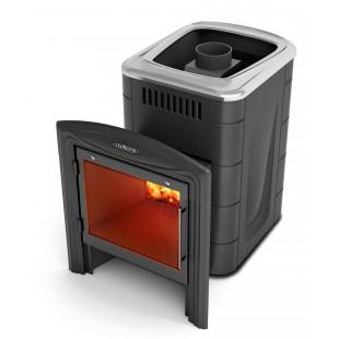 Банная печь  Компакт INOX 2013 Витра на дровах и топливном брикете RUF