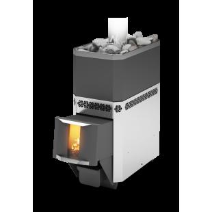 Банная печь  «Русь» 18 ЛНЗП ПРОФИ на дровах и топливном брикете RUF