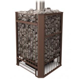 Банная печь   «Бугринка» 10ТУ на дровах и топливном брикете RUF