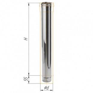 Дымоход 1.0м из нержавеющей стали (430/0.5 мм) Ф120 мм