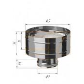 Зонт-К с ветрозащитой из нержавеющей стали (430/0.5 мм) Ф120 мм