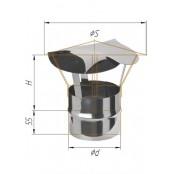 Зонт-К из нержавеющей стали (430/0.5 мм) Ф120 мм