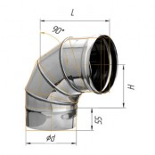 Отвод угол 90° (430/0.5 мм) Ф120