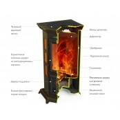 Отопительно-варочная печь-камин «Статика Квинта»
