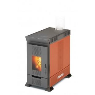 твердотопливная печь отопления Матрица-100.  На  дровах и топливном брикете RUF