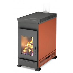 твердотопливная печь отопления Матрица-200.  На  дровах и топливном брикете RUF