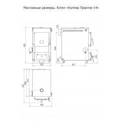 Куппер Практик-8, 8 кВт  в комплекте электро ТЭН 6 кВт