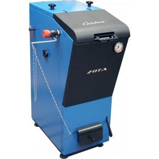 твердотопливный котел отопления  ZOTA «Сarbon-40» на угле,  дровах и топливном брикете RUF