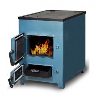 твердотопливный котел отопления ZOTA «Дымок-М», 18 кВт на угле,  дровах и топливном брикете RUF