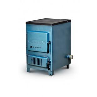 твердотопливный котел отопления ZOTA «Дымок-М», 12 кВт на угле,  дровах и топливном брикете RUF