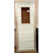 Деревянная дверь для сауны МС 5 cо стеклянной вставкой  190х70