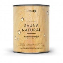 Пропитка для бани и сауны Elcon Sauna Natural объем 0,9 литра.
