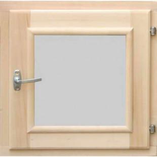 Окно для сауны, бани  DoorWood стеклопакет (липа-береза) размер 50 х 50 см.