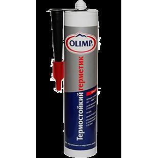 Профессиональный огнеупорный герметик на неорганической основе, +1500 С, жаростойкий, черный, 300 мл.