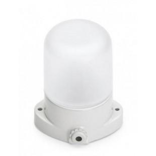 Керамический светильник, термо-стекло, белый-мат.