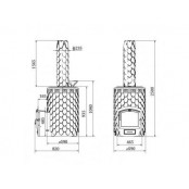 Банная печь Альфа Панголина Inox 12-24 м.куб