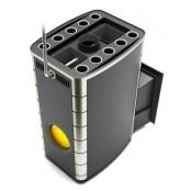 Банная печь бизнес-класса Гекла Inox Иллюминатор 30-50 м.куб