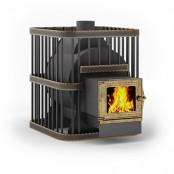 Печь для бани Мини Квадро-14C  дверца со стеклом