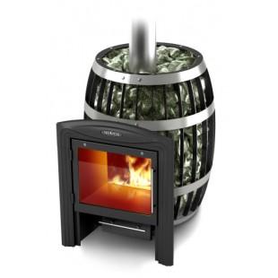 печь для бани Саяны Inox Витра на дровах и топливном брикете RUF