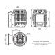Печь-сетка  для бани  Саяны Cast Витра чугун 8-18 м.куб на дровах и топливном брикете RUF