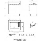 Электрокаменка   ЭКМ 1-9 LUX 9 кВт, 12-15 м.куб.