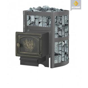 Банная печь  Везувий ЛЕГЕНДА Стандарт 22 (ДТ-3) на дровах и топливном брикете RUF