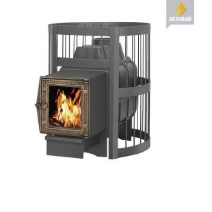 Банная печь  Везувий ЛЕГЕНДА Стандарт 22 (ДТ-4С) на дровах и топливном брикете RUF
