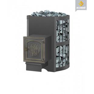 Банная печь  Везувий СКИФ 16  (ДТ-4 на дровах и топливном брикете RUF
