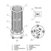 """Банная  электро печь ZOTA «Viza-12»"""", 15-20 м.куб"""