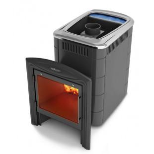 Банная печь   Компакт 2013 Carbon Витра Б  на дровах и топливном брикете RUF