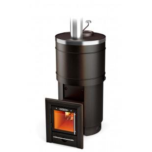 Банная печь  Термофор Inox Люмина на дровах и топливном брикете RUF