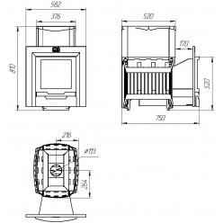 Печь для бани и сауны «Русь-Сетка» 18 Л, 10-18 куб.м.