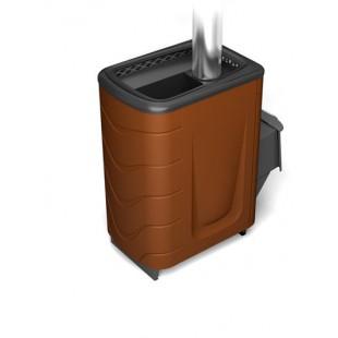 Банная печь  Тунгуска 2011 Inox на дровах и топливном брикете RUF
