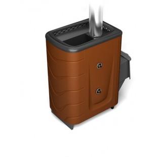 Банная печь  Тунгуска 2011 Inox (ТО) на дровах и топливном брикете RUF