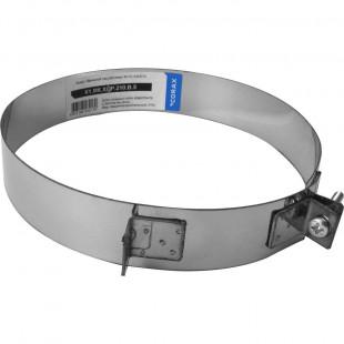 Хомут обжимной нержавеющая сталь для одностенной трубы (430/0.5мм) диаметр 210