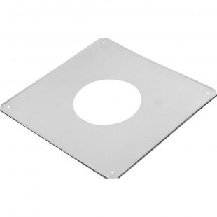 Экран защитный из нержавеющей стали с отверстием, размер 500 х 500 мм.
