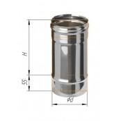 Дымоход 0.25м из нержавеющей стали (430/0.5 мм) Ф120 мм