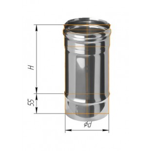 Дымоход 0.25м (430/0.8 мм) Ф120 мм